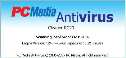 PCMedia Antivirus v1.0 RC20